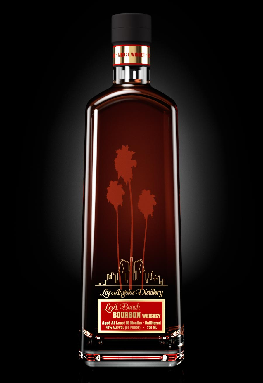 LA Beach Bourbon Whiskey from Los Angeles Distillery