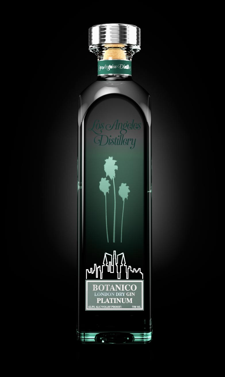 Botanico London Dry Gin from Los Angeles Distillery