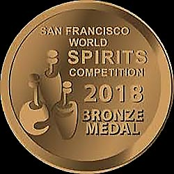 2018 San Francisco World Spirits Competition Bronze Medal